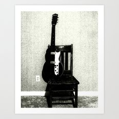 This Chair and Guitar Weren't Always So Lonely Art Print