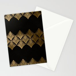 Reims, France: Luxueux Black and Gold Art Deco Stationery Cards