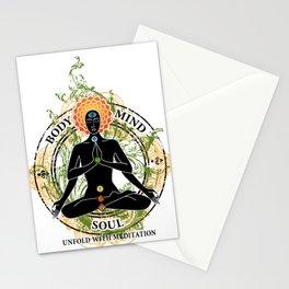 Yoga : Mind Body and Soul KUNDALINI Stationery Cards