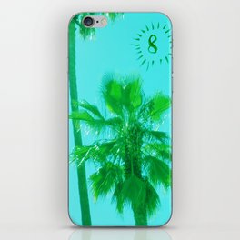 palm tree number 8 iPhone Skin