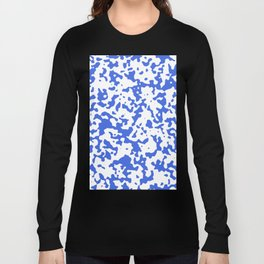 Spots - White and Royal Blue Long Sleeve T-shirt