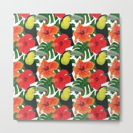 Toucan pattern Metal Print
