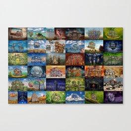 Super Collage - House Canvas Print
