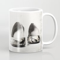 shoes Mugs featuring shoes by Ingrid Beddoes