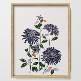Botanical illustration print - Lara Serving Tray