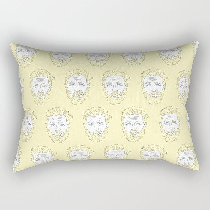 Yellow Hardy Rectangular Pillow