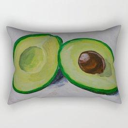 Happy avocado Rectangular Pillow