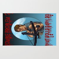 daryl Area & Throw Rugs featuring What would Daryl Do? by Lost Link Art