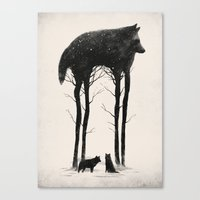 creepy Canvas Prints featuring Standing Tall by Dan Burgess