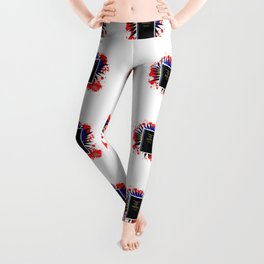 Comic Book Of Mormon Boom Leggings