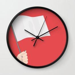 White Flag Wall Clock