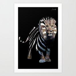 Lion spy II mission logo blanc urban fashion culture Jacob's 1968 Paris Agency Art Print