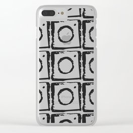 Box Pattern Clear iPhone Case