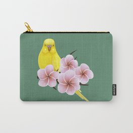 Yellow Budgerigar Carry-All Pouch