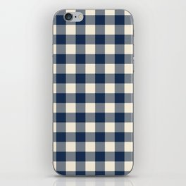Buffalo Plaid Rustic Lumberjack Blue and White Check Pattern iPhone Skin
