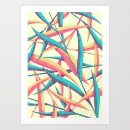 Grass Feathers Art Print