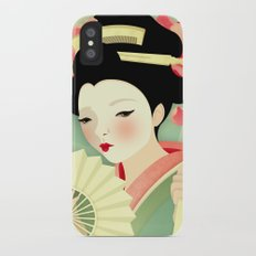 Geisha: Rose iPhone X Slim Case