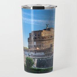 Ponte Sant'Angelo at dawn - Rome, Italy Travel Mug