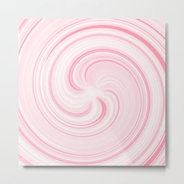 Strawberry Sundae Swirl Metal Print