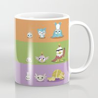 digimon Mugs featuring Hey Digimon, hey Digimon!  by Sindorman