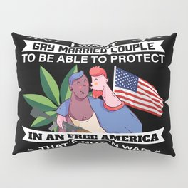 Libertarian Gifts Gay Married Couples To Protect Pillow Sham