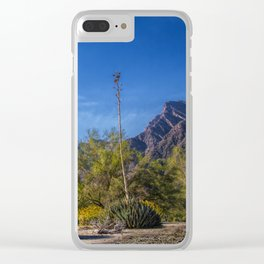 Desert Flowers in the Anza-Borrego Desert State Park, Southern California Clear iPhone Case