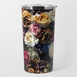 Flower Wall // Full Color Floral Accent Background Jaw Dropping Decoration Travel Mug