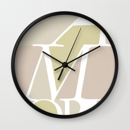 Amore II - Love #society6 #love #buyart Wall Clock