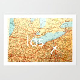 The Lost T Art Print