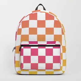 Checkerboard Color Gradient Backpack