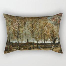 Vincent Van Gogh Poplars Near Nuenen Rectangular Pillow