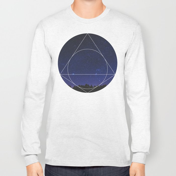 Magical Universe - Geometric Photographic Long Sleeve T-shirt