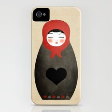 Matryoshka paperdoll Heart iPhone (4, 4s) Slim Case