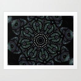 Dark Mandala #4 Art Print