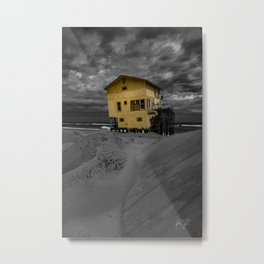 Yellow Derelict House Nags Head, NC Metal Print