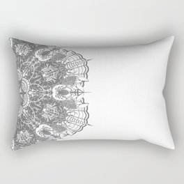 Crab Karma Mandala Grey Rectangular Pillow