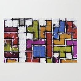 Life as Tetris Rug