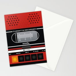red recorder Stationery Cards