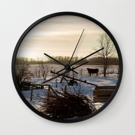 Outstanding in my Field Wall Clock