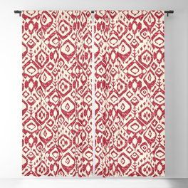 lezat red Blackout Curtain