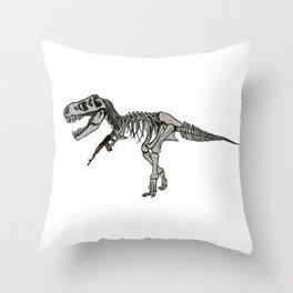 Fighter Dino Throw Pillow