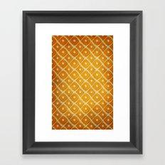 Yellow Pattern Framed Art Print