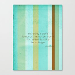 Carpe Diem Serie - Mother Teresa #inspirational Canvas Print