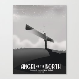 Angel of the North,Gateshead, Tyne and Wear, England black and white. Canvas Print