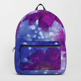violet gerbera Backpack