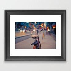 Rusty bike Framed Art Print