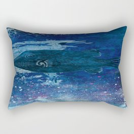 Cosmic fish, ocean, sea, under the water Rectangular Pillow