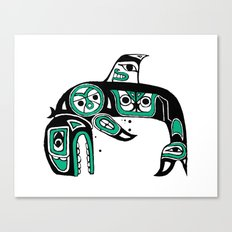 Native American Orca Canvas Print