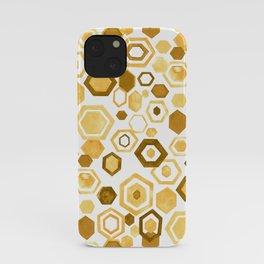 Gouache Hexagons - Yellows iPhone Case