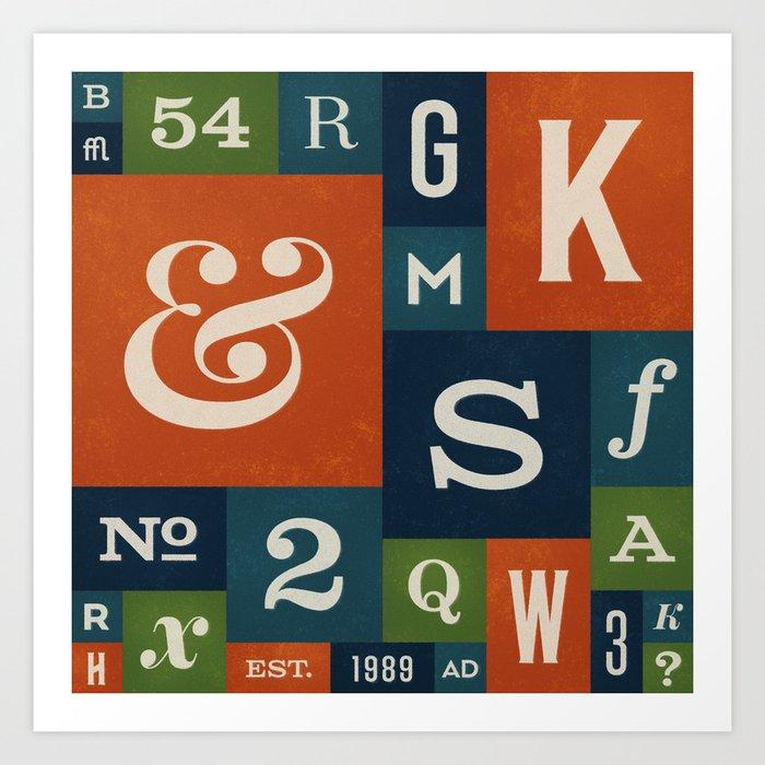 A Celebration of Typographic Form Art Print